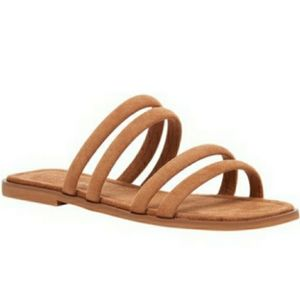 Strappy Open Toe Slide Sandals